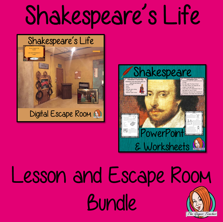 Shakespeare's Life Lesson and Escape Room Bundle