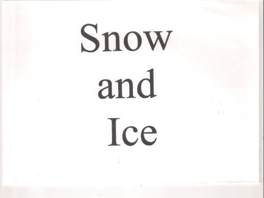 Snow and Ice - Poetry and Vocab. Aids