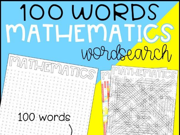 Mathematics (Maths) Word Search