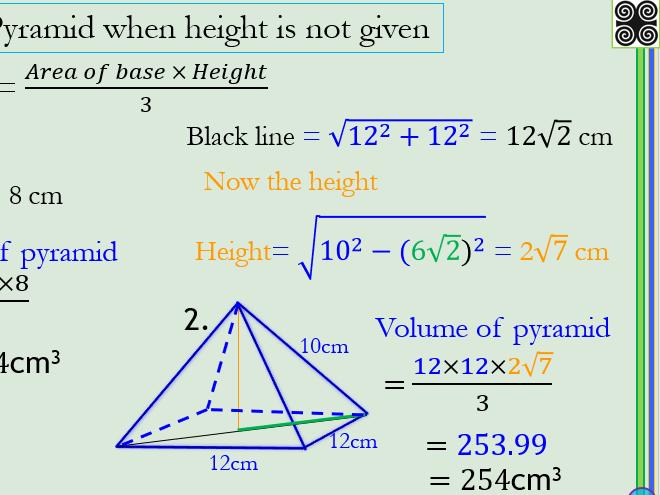 Volume of Cones and Pyramids