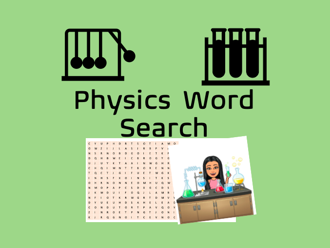 Energy Stores&Transfer Word-search - KS3