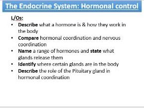 New spec AQA Biology 4.5.3 Endocrine system and blood glucose levels