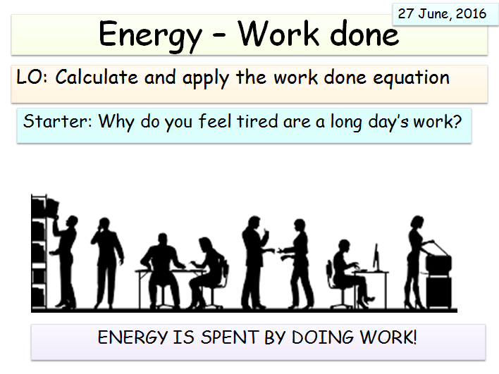 New AQA Physics (Energy Unit) - Work done and Power