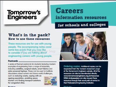 Engineering careers - teacher notes