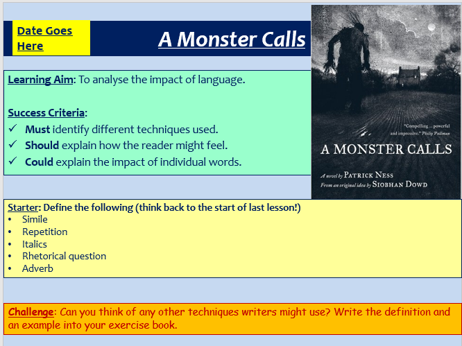 A Monster Calls - Analytical Essay