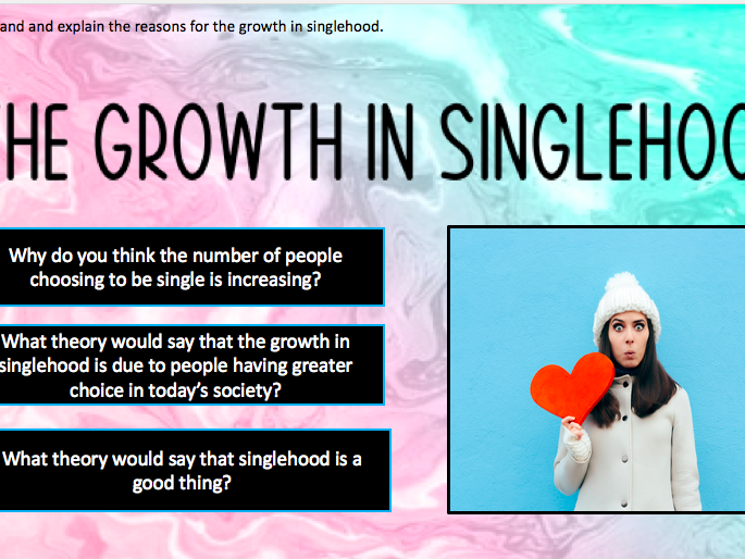 GCSE sociology [WJEC/Eduqas]- The rise in singlehood and marriage patterns