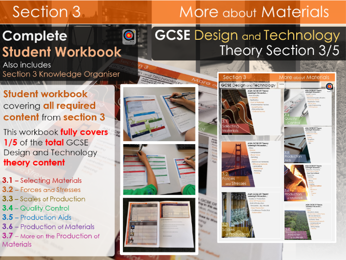 GCSE DT Theory - Section 3/5 - Workbook - More about Materials