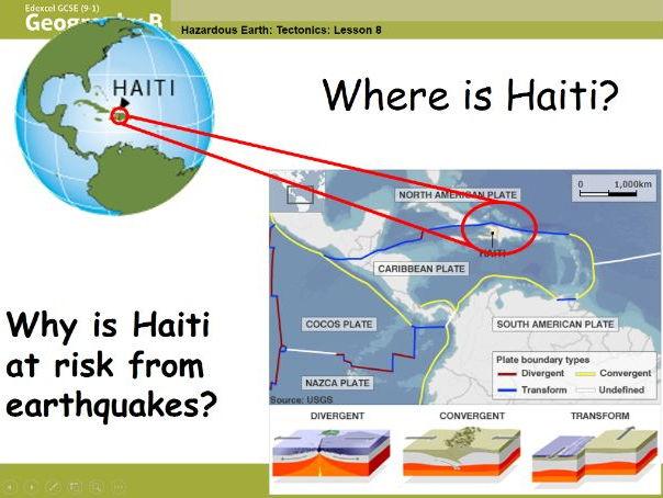 Edexcel Geography B KS4 SOW - Tectonic Hazards: Lesson Eight - Haiti Earthquake, 2010