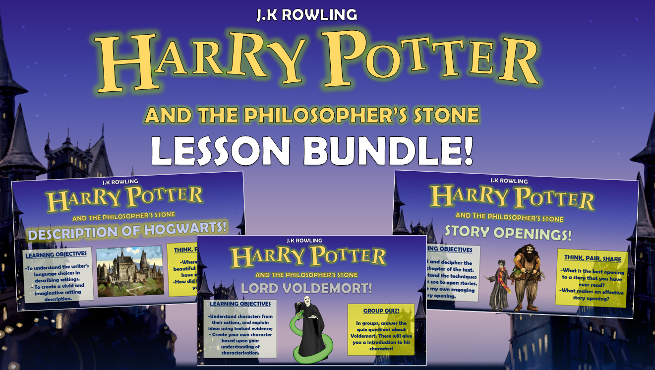 Harry Potter and the Philosopher's Stone Lesson Bundle!