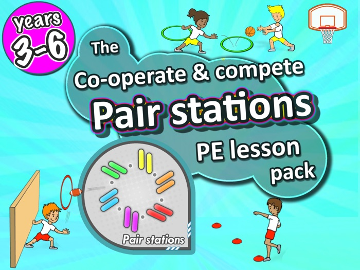 PE Skill Stations: 50 fun sport activities for pairs to play - Years 3-6