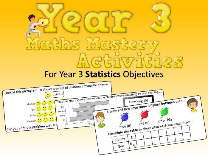 Statistics Mastery Activities – Year 3