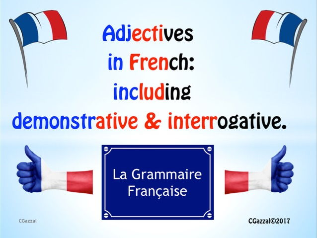 A Complete Guide to Adjectives in French: including demonstrative & interrogative.