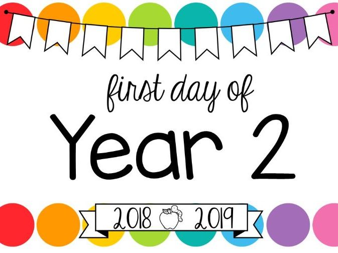 First Day of School Signs **Editable** (Rainbow Pop)