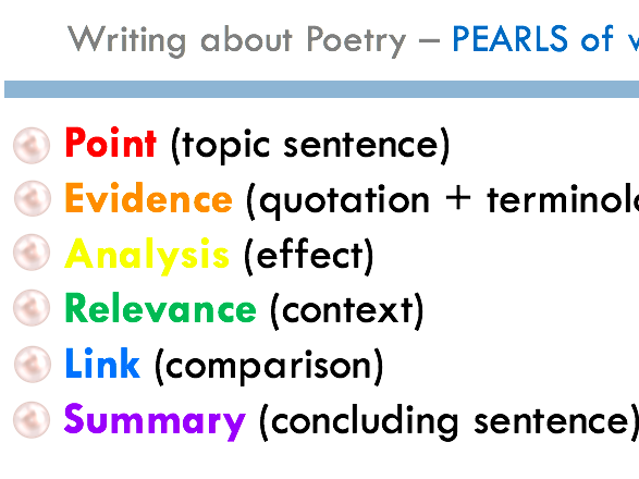 9-1 Model Paragraph Poetry PEARLS - Valentine & Sonnet 43