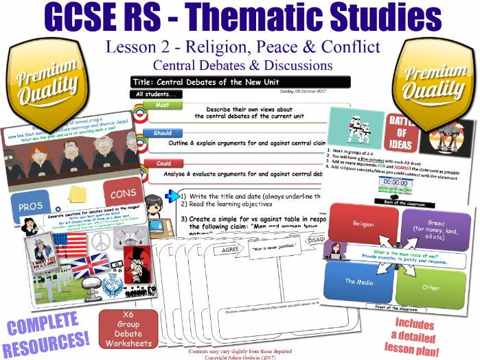 Religion, Peace & Conflict - Central Debates - L2/10 [GCSE RS - Thematic Studies - Christian Views]