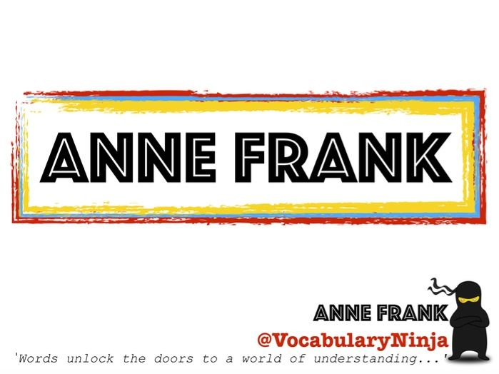 Anne Frank Topic Vocabulary Pack