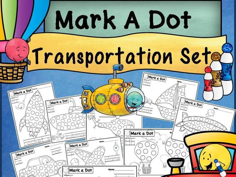 Transportation Dot Dauber Set