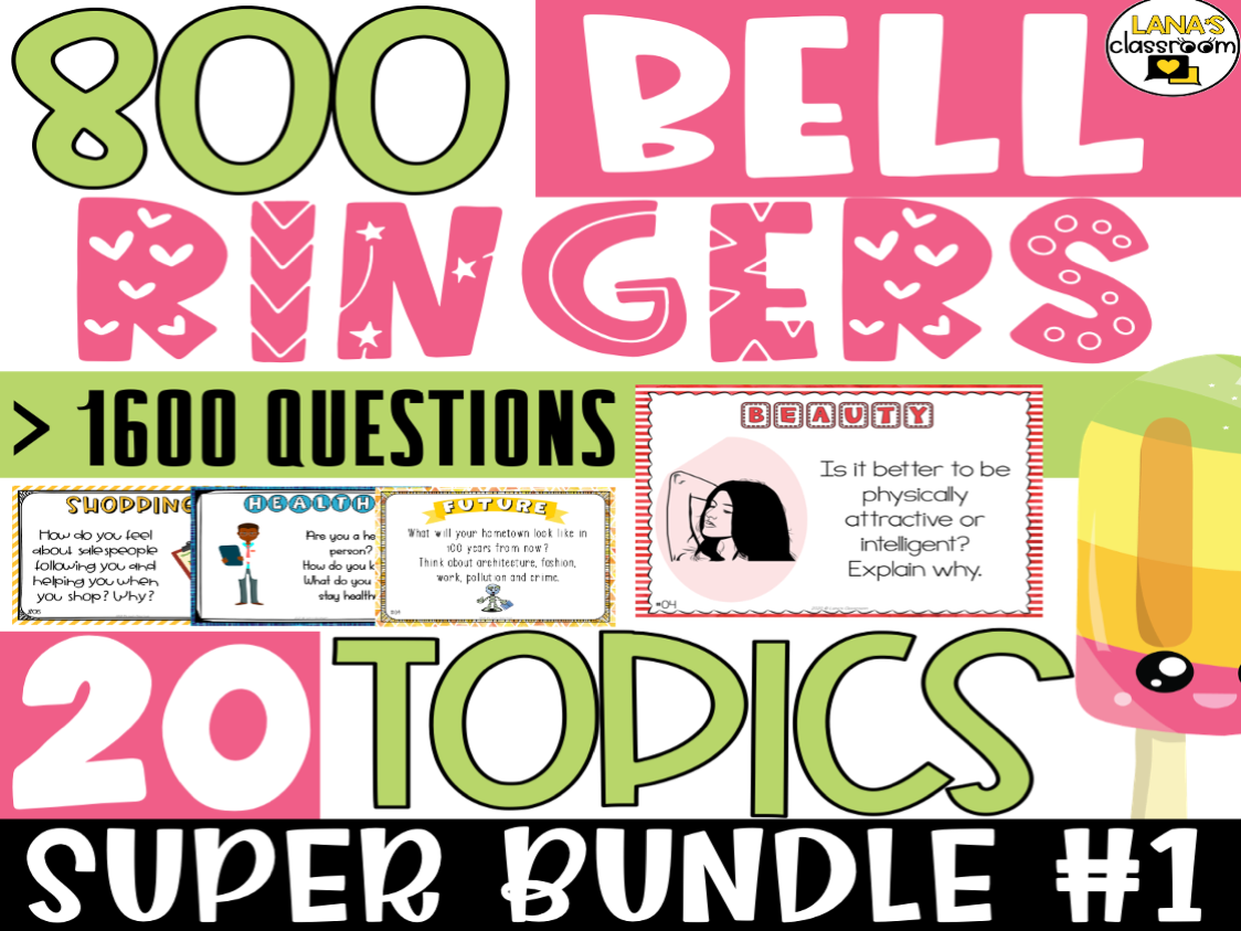 Bell Ringers Questions | SUPER BUNDLE #1 | Middle and High School
