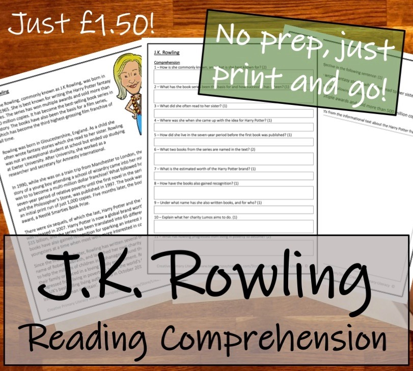 UKS2 Literacy - J K  Rowling Bundle of Activities