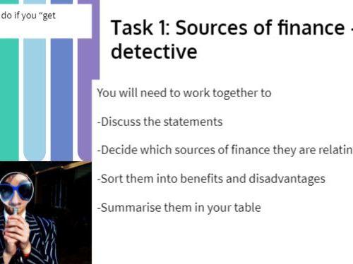 2.1 Finance for growth - Business Advisor Lesson
