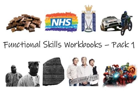 Functional Skills English L1/L2 Workbooks - Pack 1