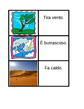 Tempo (Weather in Italian) Concentration games