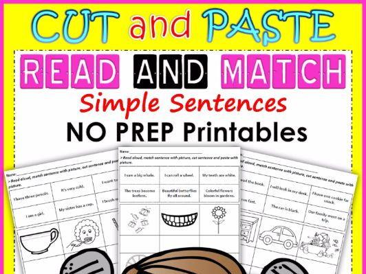 Read and Match (NO PREP Printable)