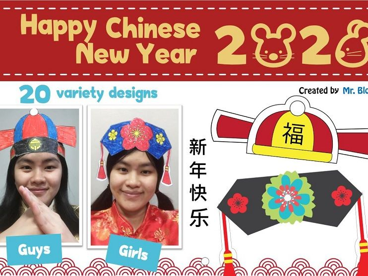 Chinese New Year 2020 (Traditional Chinese Hats) Year of Rat