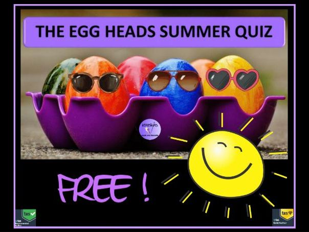FREE Summer End of Year Quiz 2018