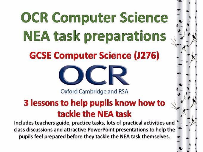 OCR GCSE Computer Science NEA task preparations (J276)