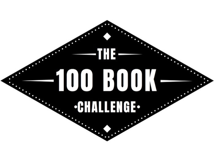 100 Book Challenge Sign - 100 Books to Read Before You Leave