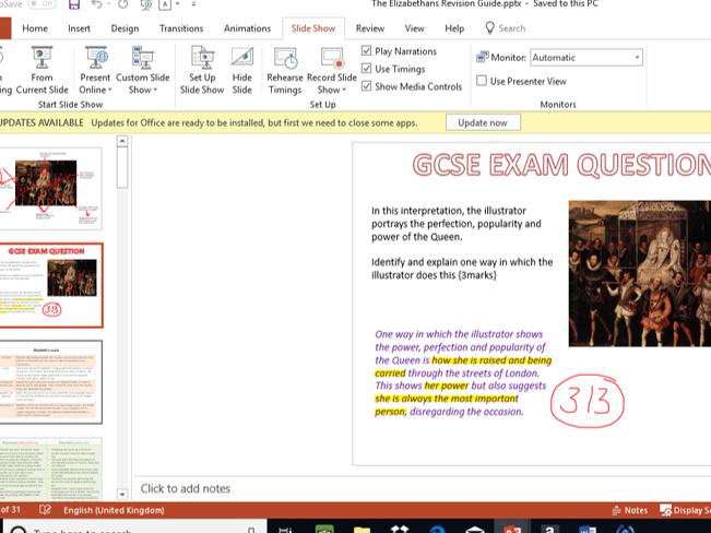The Elizabethans History GCSE Revision
