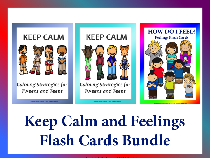 Keep Calm and Feelings Flash Cards  Bundle