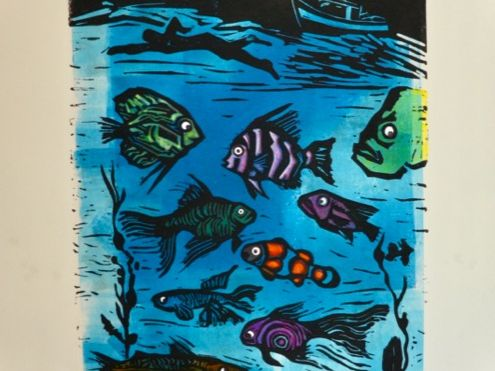Amazing Lino cutting and printing at home tutorial.