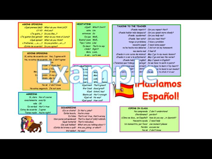 Spanish speaking mat