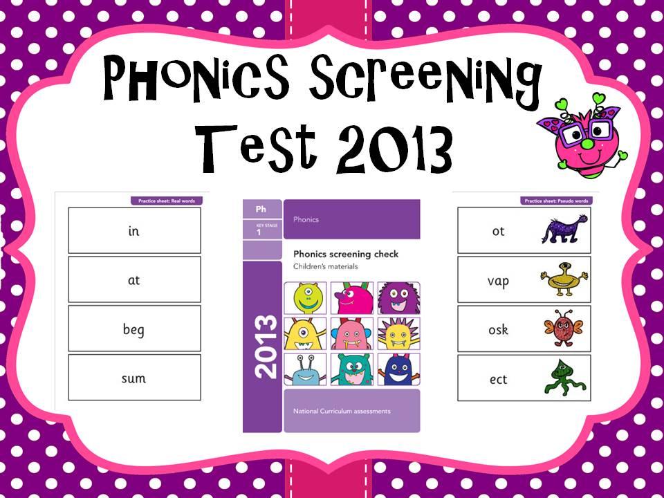 2013 Phonics screening