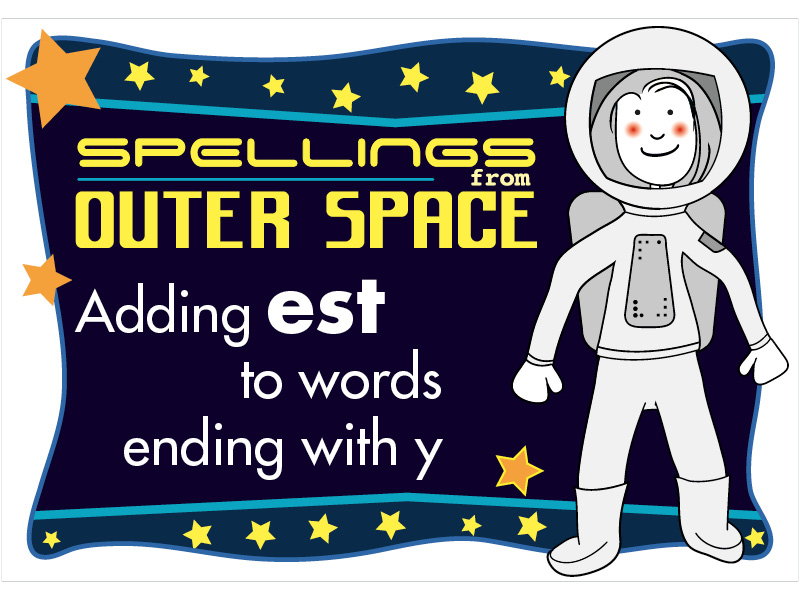 Year 2 Spellings Adding EST to words ending with Y