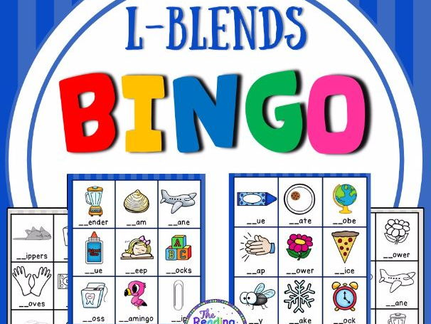 Blends Bingo Game (L Blends)
