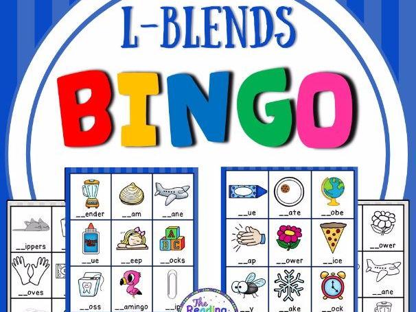Blends Bingo Game (L Blends)