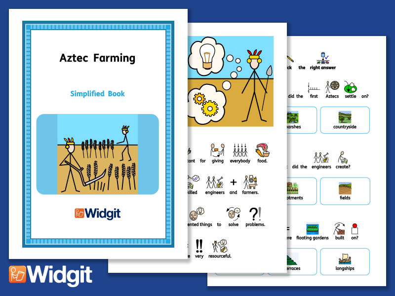 Aztec Farming - History Book and Activities with Widgit Symbols