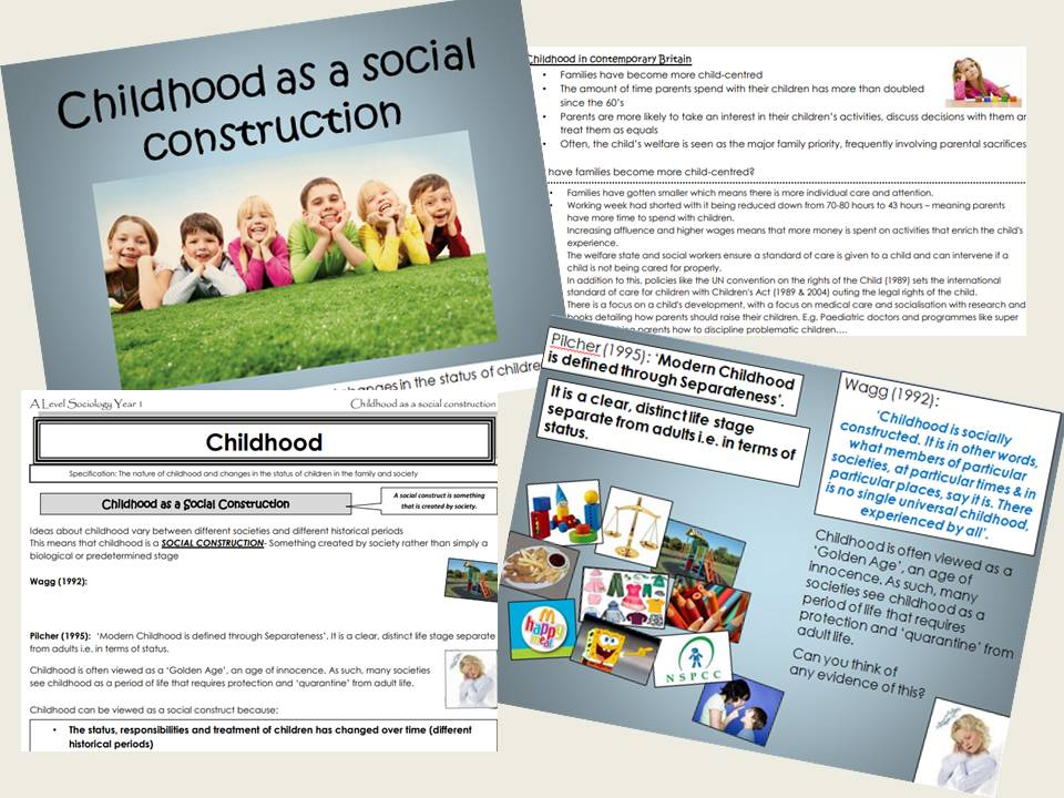 AQA Sociology - Year 1 -Families & Households - Childhood as a Social Construction