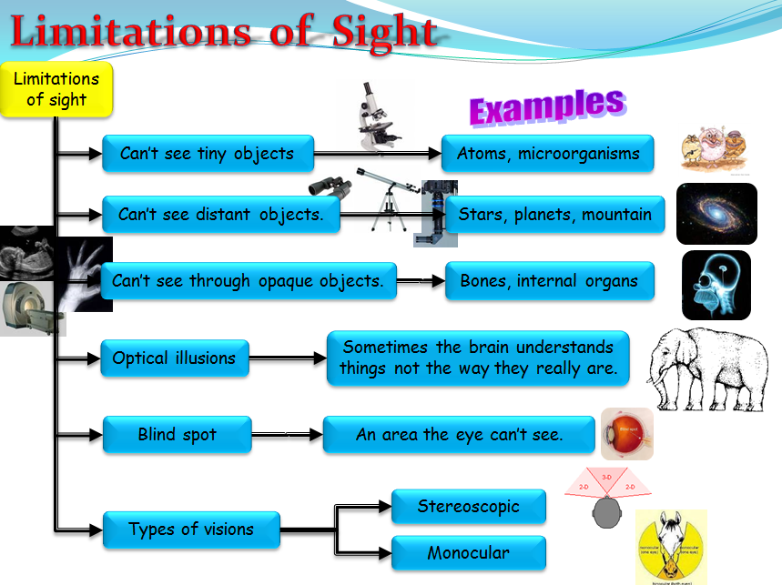 Sight and Vision - defect and limitations (Physics)
