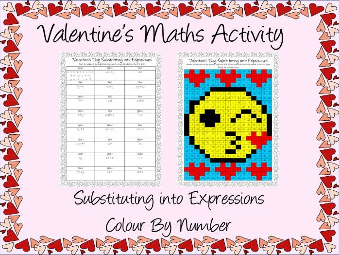 Valentine's Day Maths Substitution