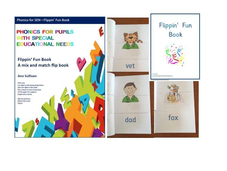 Flippin' Fun Book - Mix-Match-Read- Phonics for SEN
