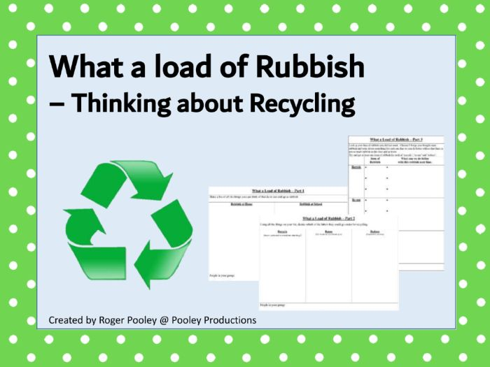 What a Load of Rubbish - Thinking about Recycling