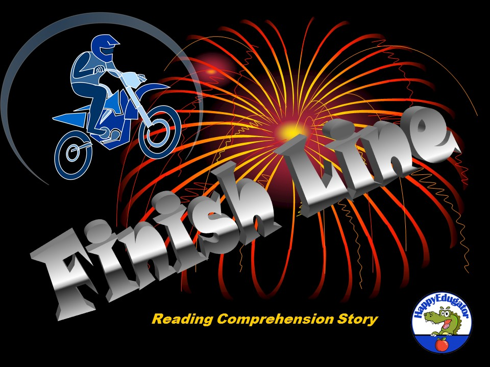 Digital Classroom Interactive Reading Comprehension Story - Finish Line