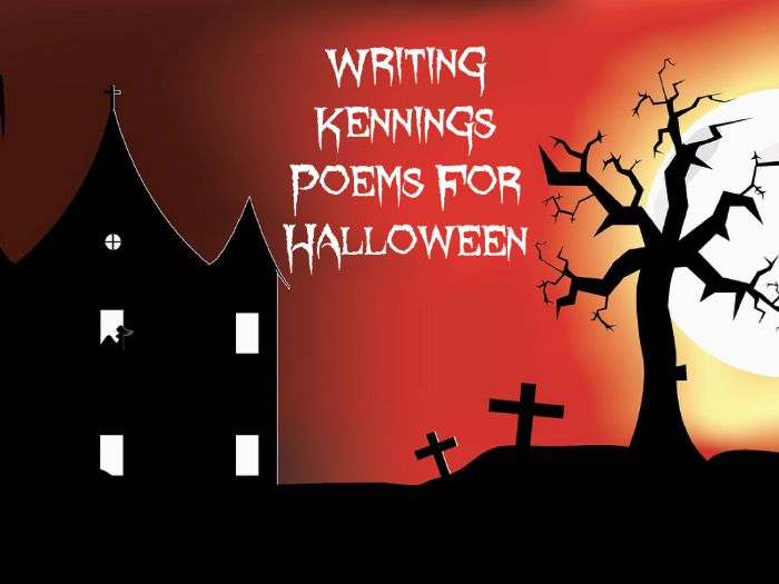 Halloween Lesson Idea - Writing Scary Kennings Poems