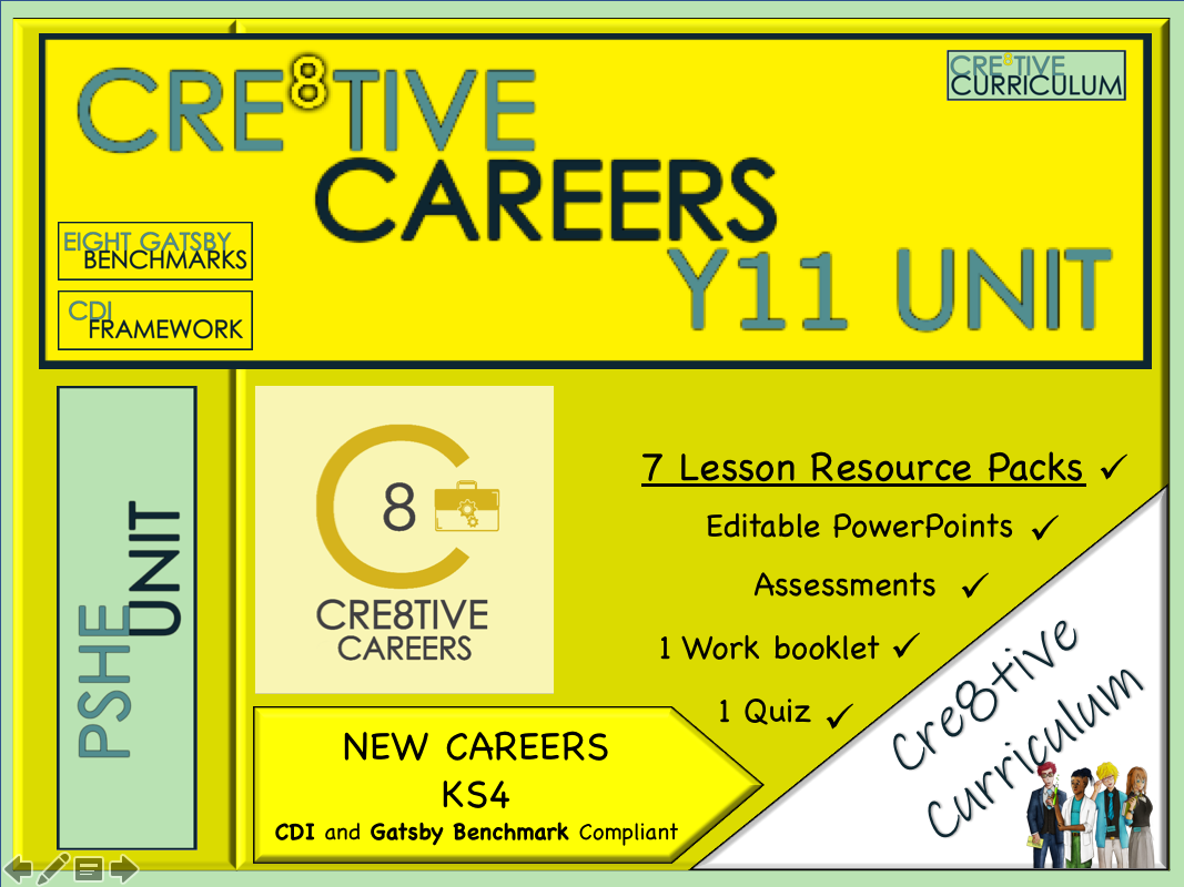 Cre8tive Careers Year 11 Unit - CDI Gatsby Benchmarks