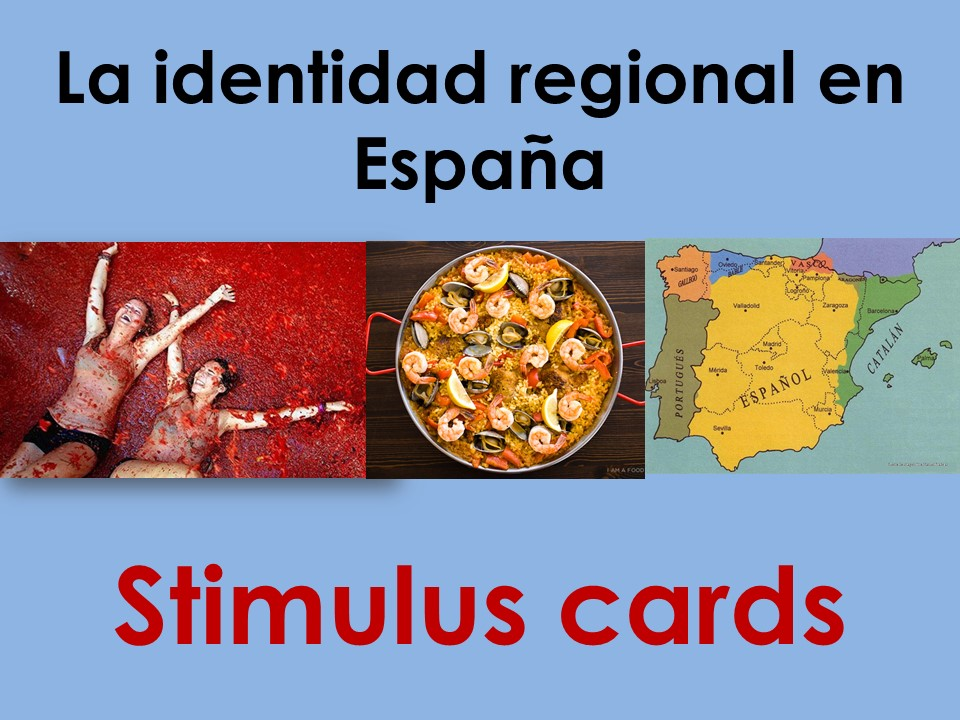 New AS/A Level Spanish: Stimulus cards on La identidad regional