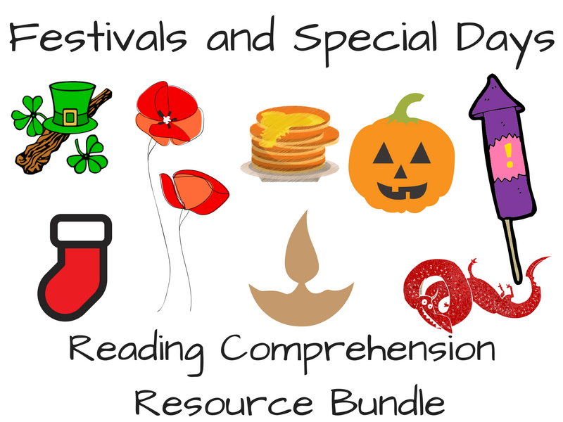 Festivals and Special Days Reading Comprehension Bundle